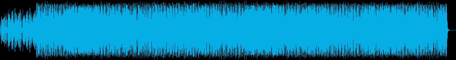 軽やかで楽しいポップBGMの再生済みの波形