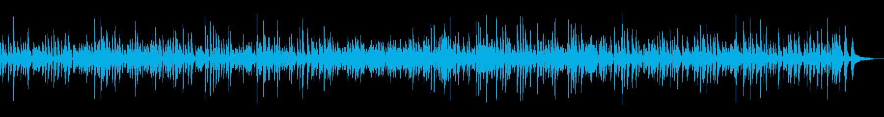 レトロなおしゃれジャズピアノの再生済みの波形