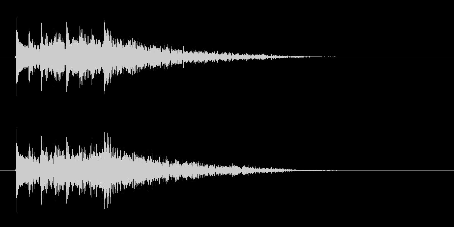 透明感のある弦楽器サウンドの未再生の波形