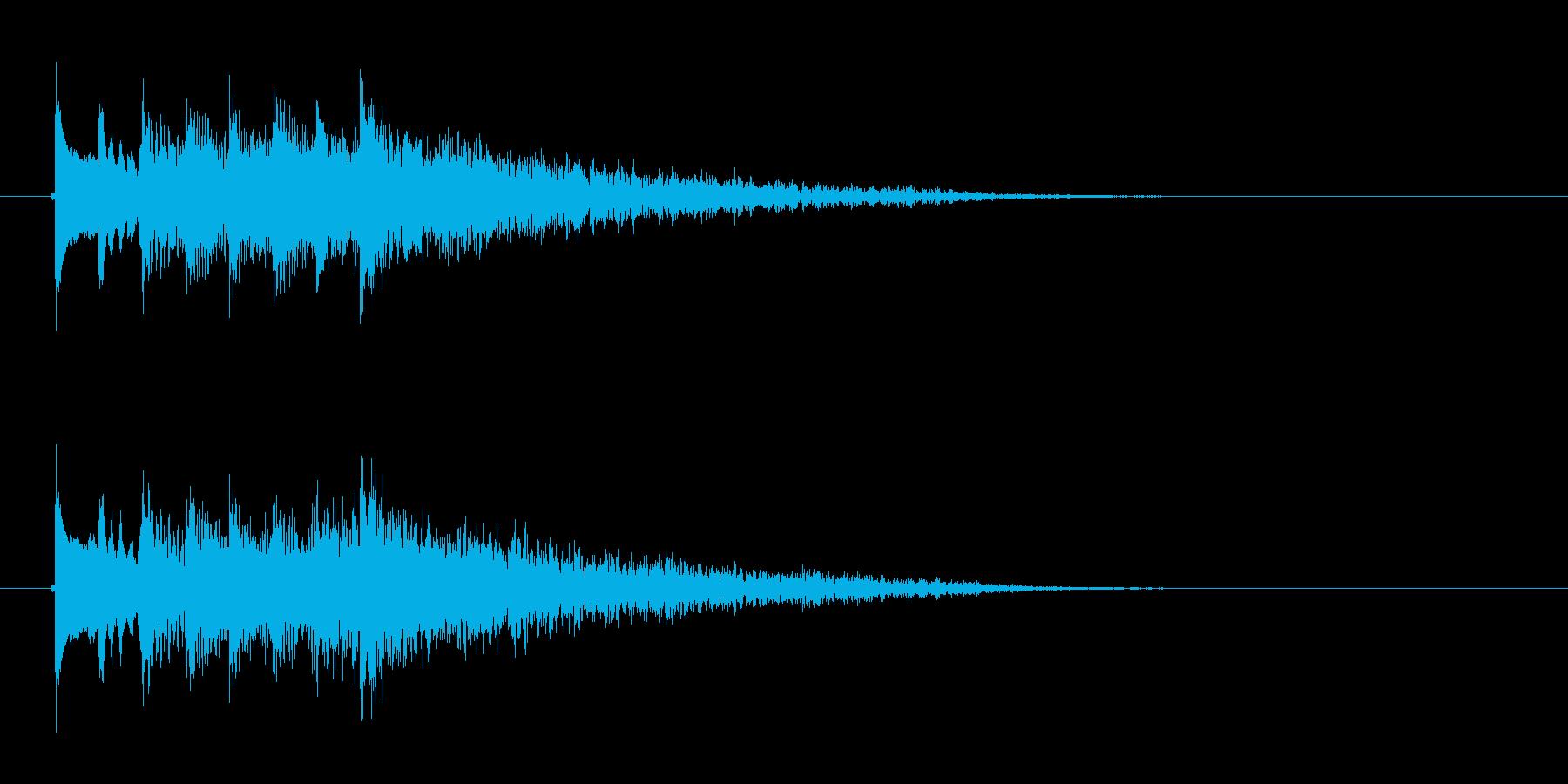 透明感のある弦楽器サウンドの再生済みの波形