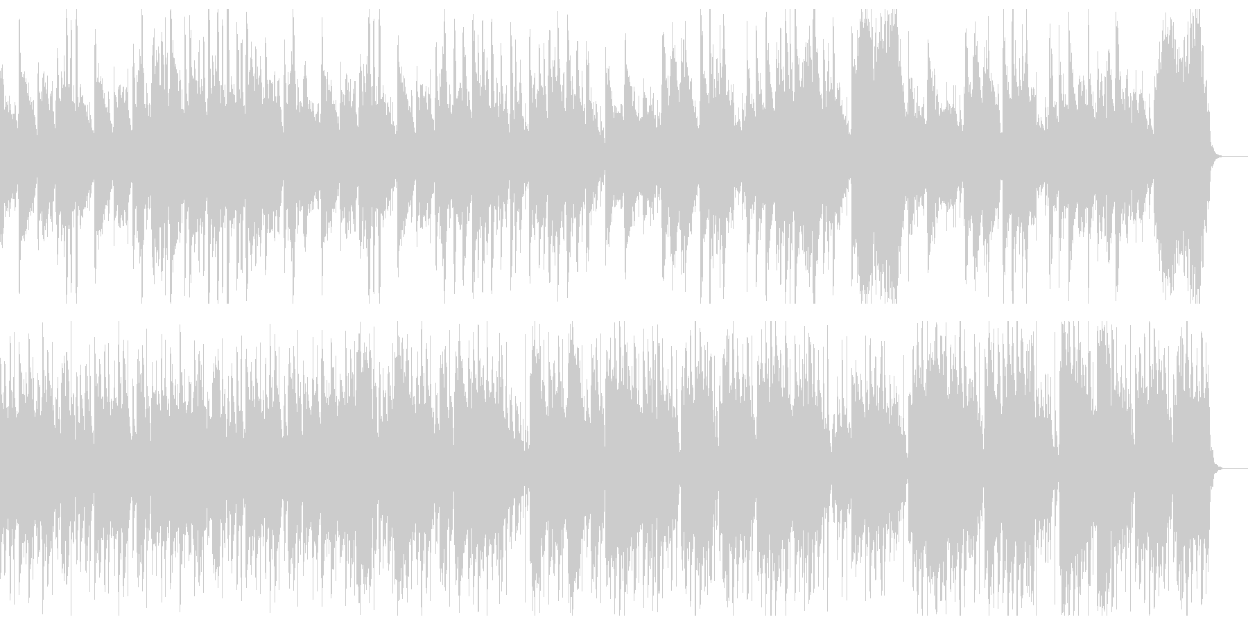 古筝・楊琴による中国伝統音楽風のBGMの未再生の波形