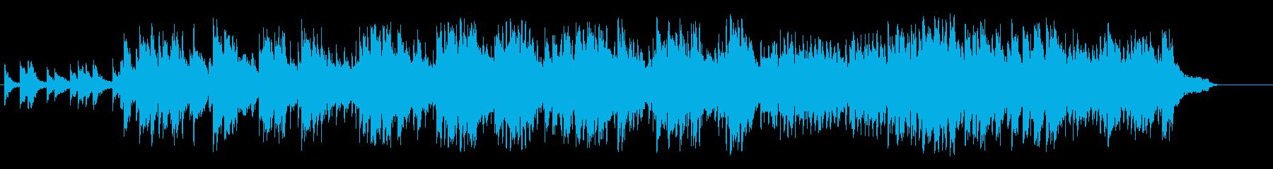 神秘的な環境音楽の再生済みの波形