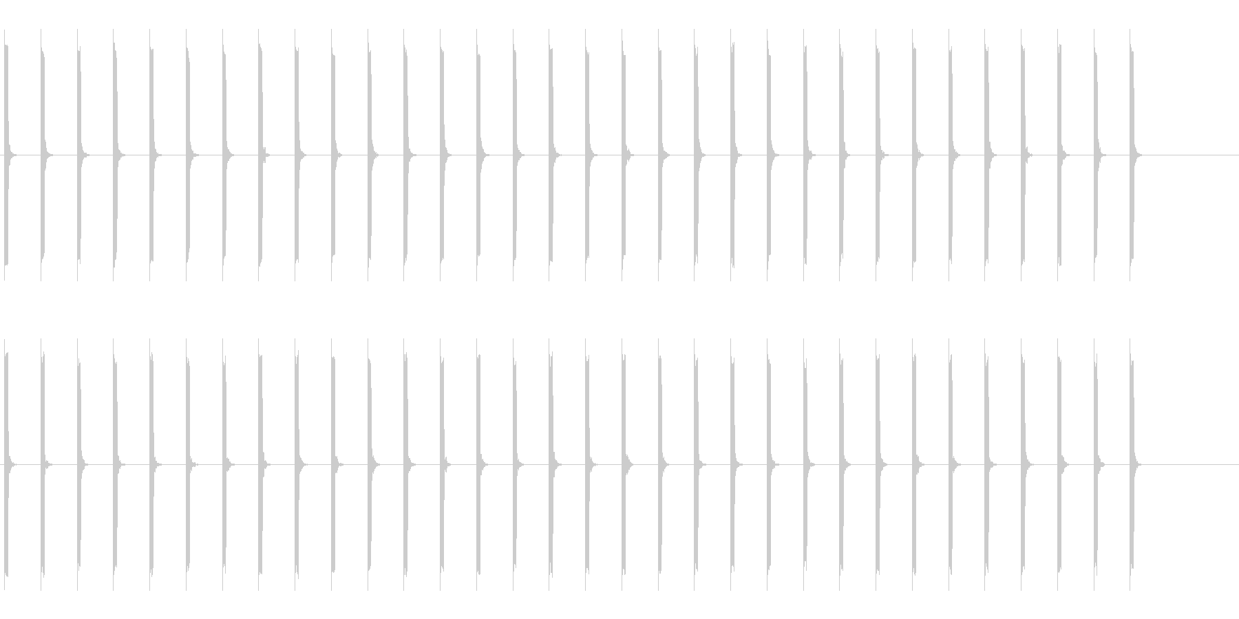 心電図の音-2-1(BPM40)の未再生の波形