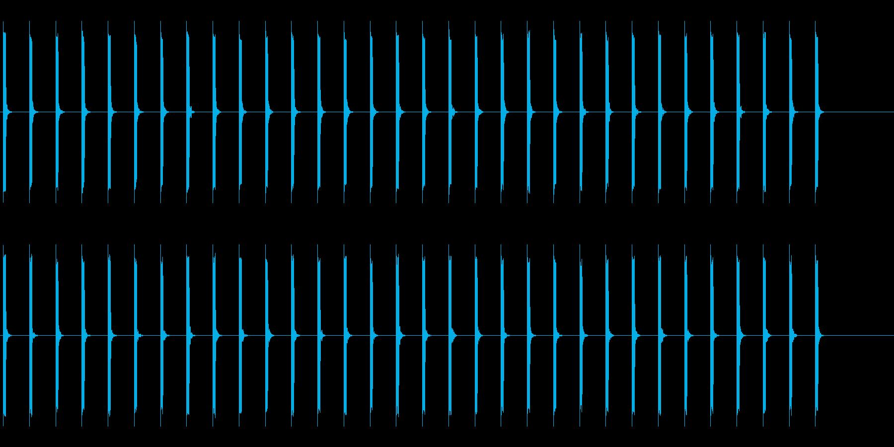 心電図の音-2-1(BPM40)の再生済みの波形