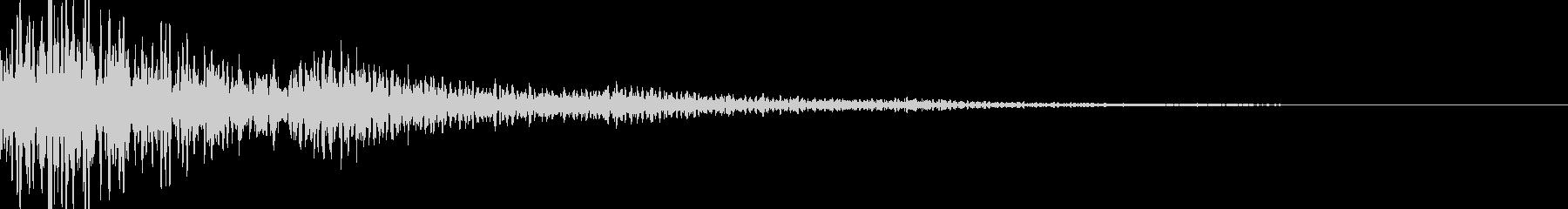 ボーン(キャンセル 決定 ワープ)の未再生の波形