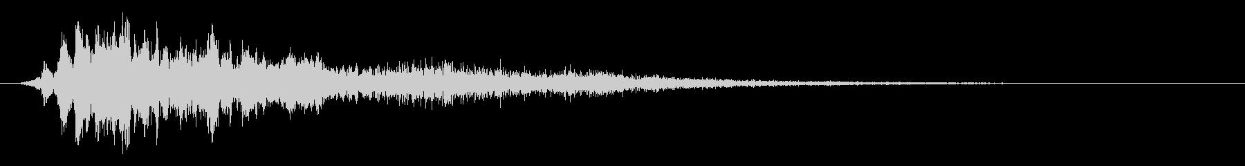 【ホラー】スリル SE_07 叫びの未再生の波形