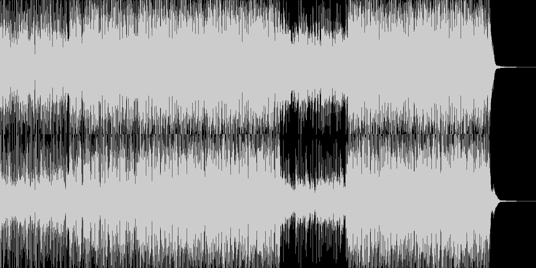 楽しくコミカルでちょっぴり感動的なBGMの未再生の波形