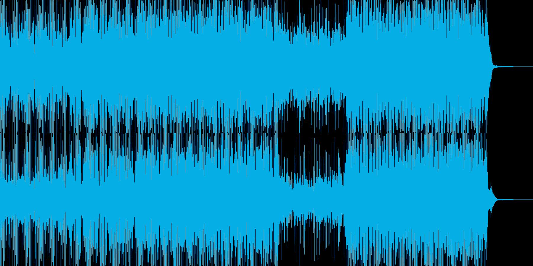 楽しくコミカルでちょっぴり感動的なBGMの再生済みの波形
