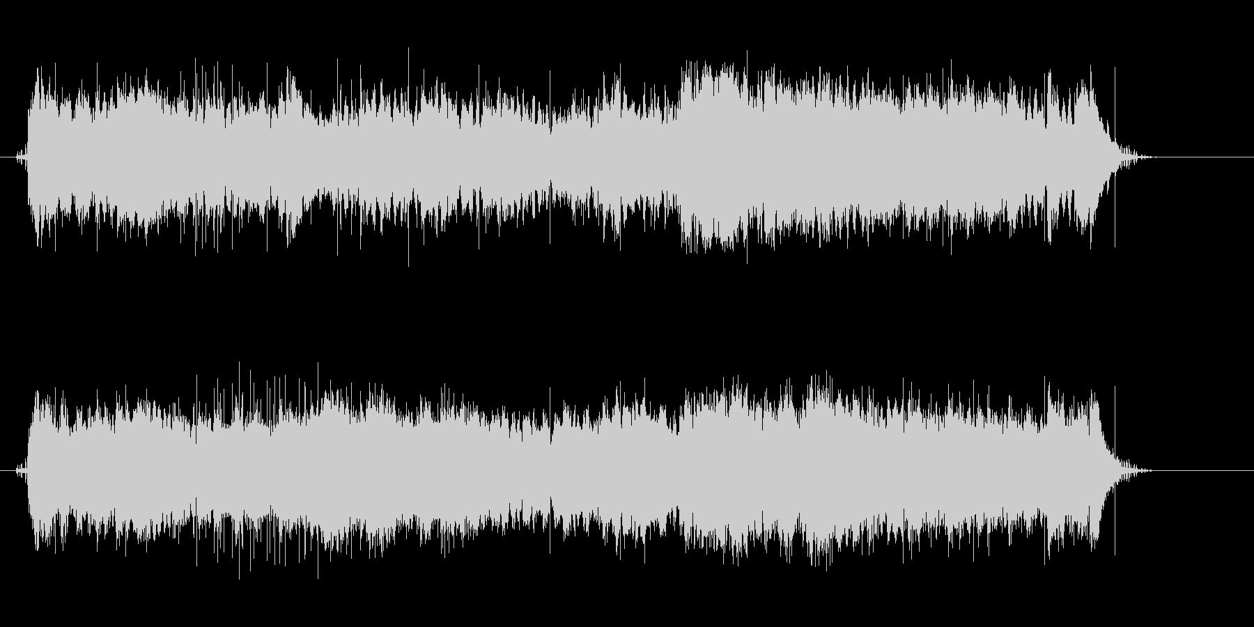 マカロニウェスタンの映画音楽の未再生の波形
