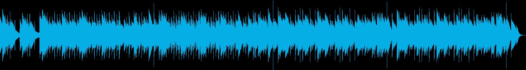 可愛らしい音色が印象的なゆったり音楽の再生済みの波形