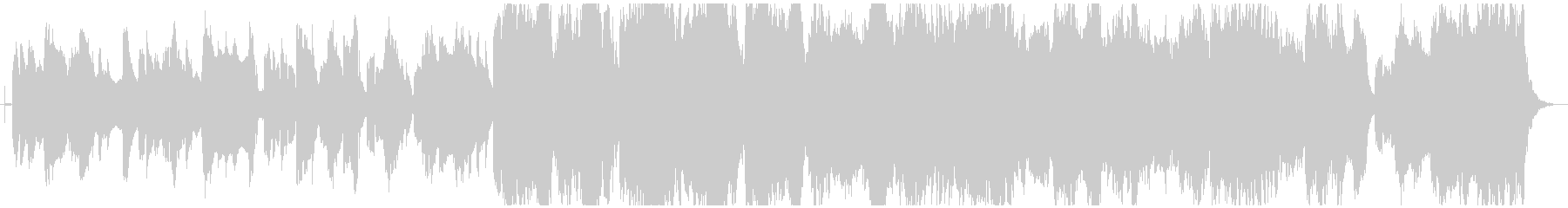ほのぼのした雰囲気のクラリネットメイン曲の未再生の波形