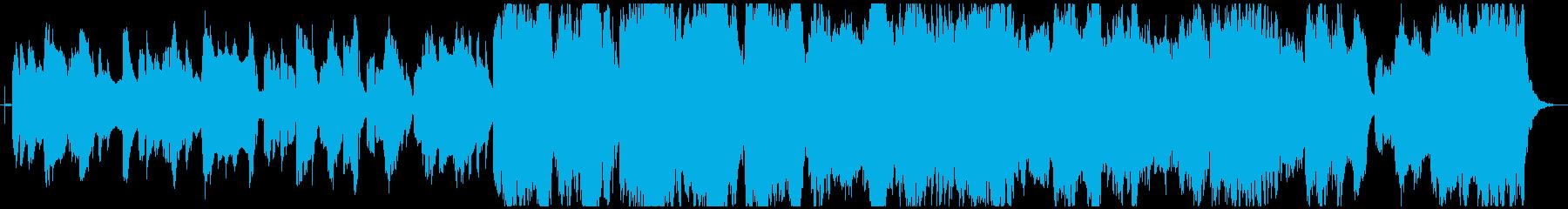 ほのぼのした雰囲気のクラリネットメイン曲の再生済みの波形