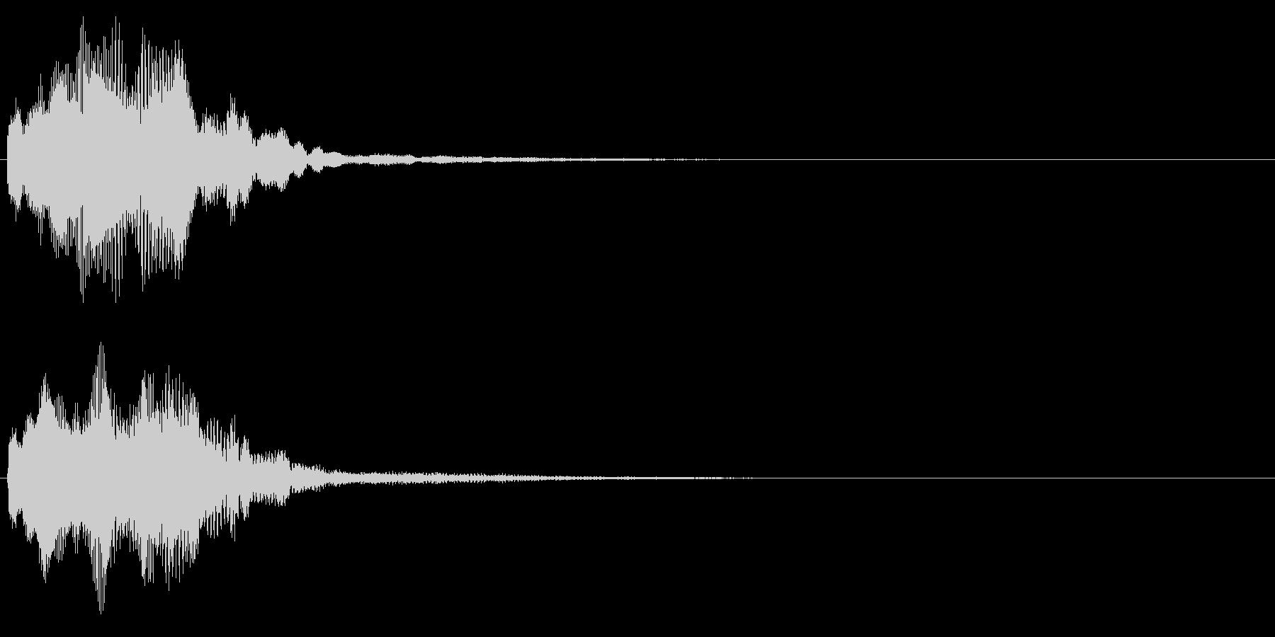 キラリン音A7 2音色×8フレーズの未再生の波形