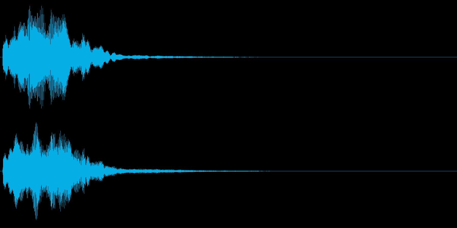 キラリン音A7 2音色×8フレーズの再生済みの波形