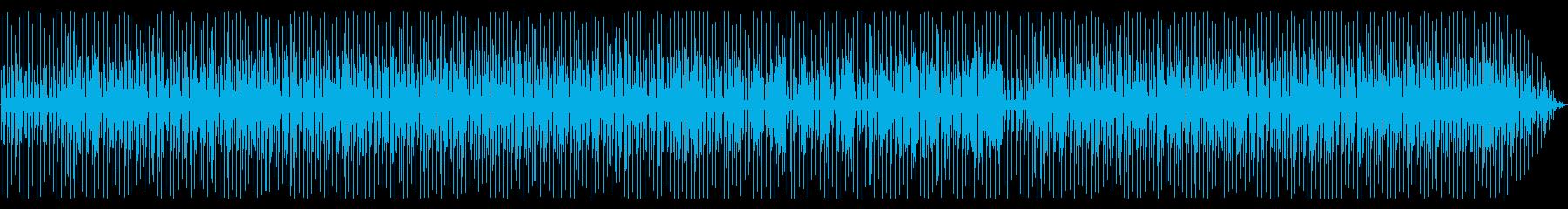 真夏の無人島で遊ぶ レゲエ調の再生済みの波形