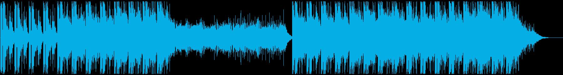 緊迫したシーンに適したBGMです。の再生済みの波形
