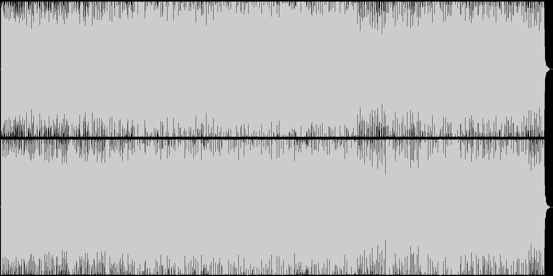 快活でおしゃれなユーロビートの未再生の波形
