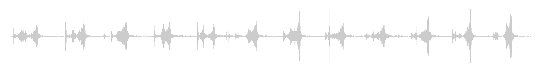 スヌーカーキューのチョークチップ:...の未再生の波形
