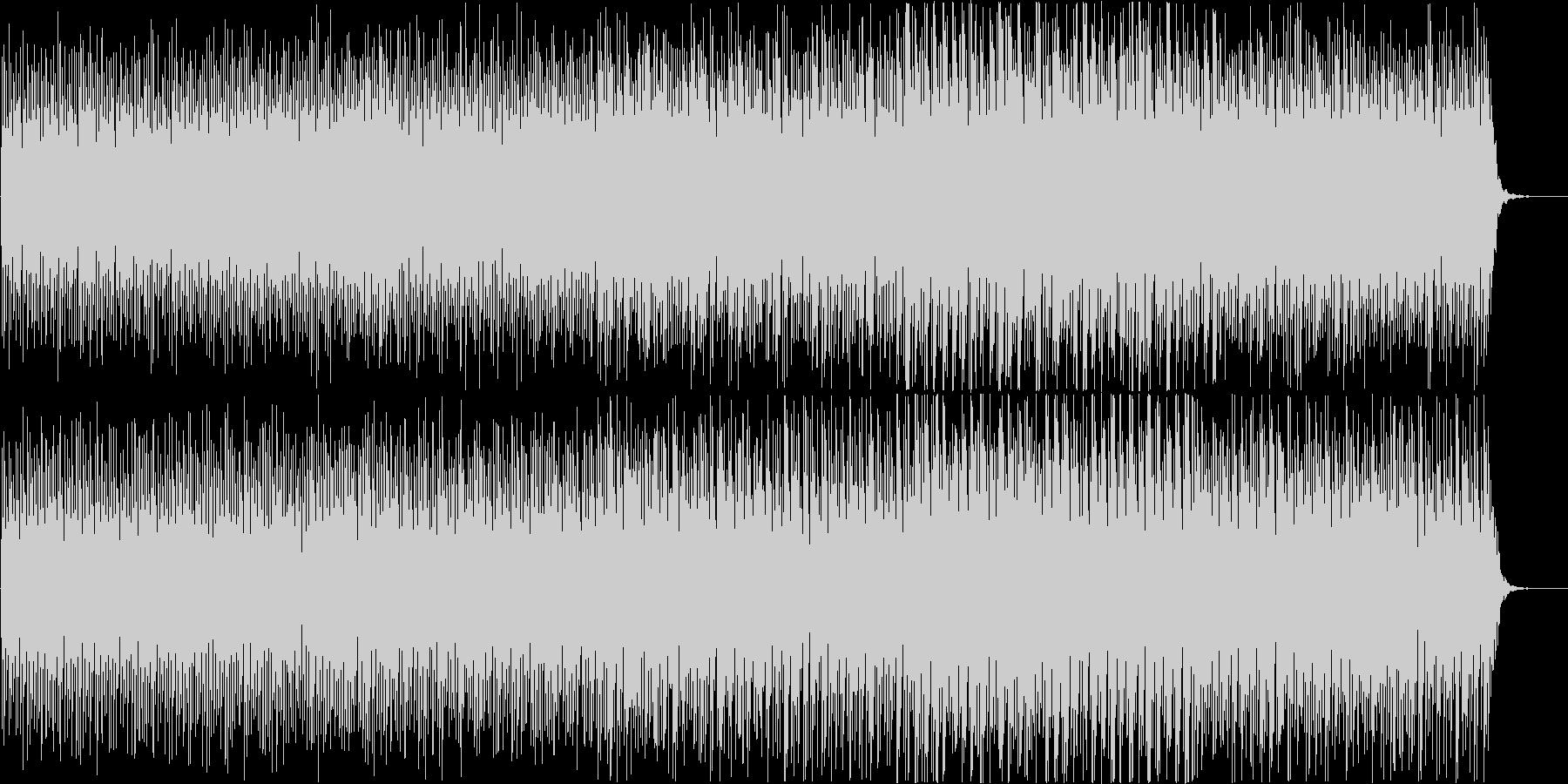 シリアスなシーンで使えるエレクトロBGMの未再生の波形