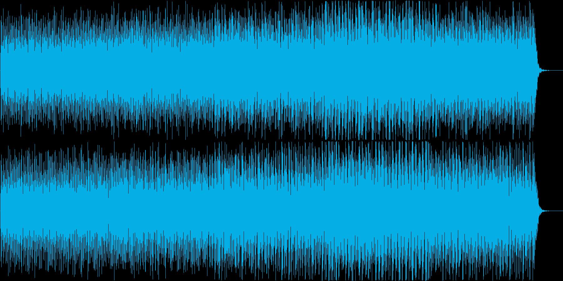 シリアスなシーンで使えるエレクトロBGMの再生済みの波形