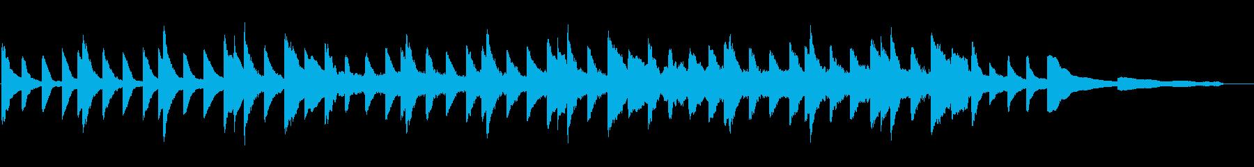 叙情的なピアノと弦の曲の再生済みの波形