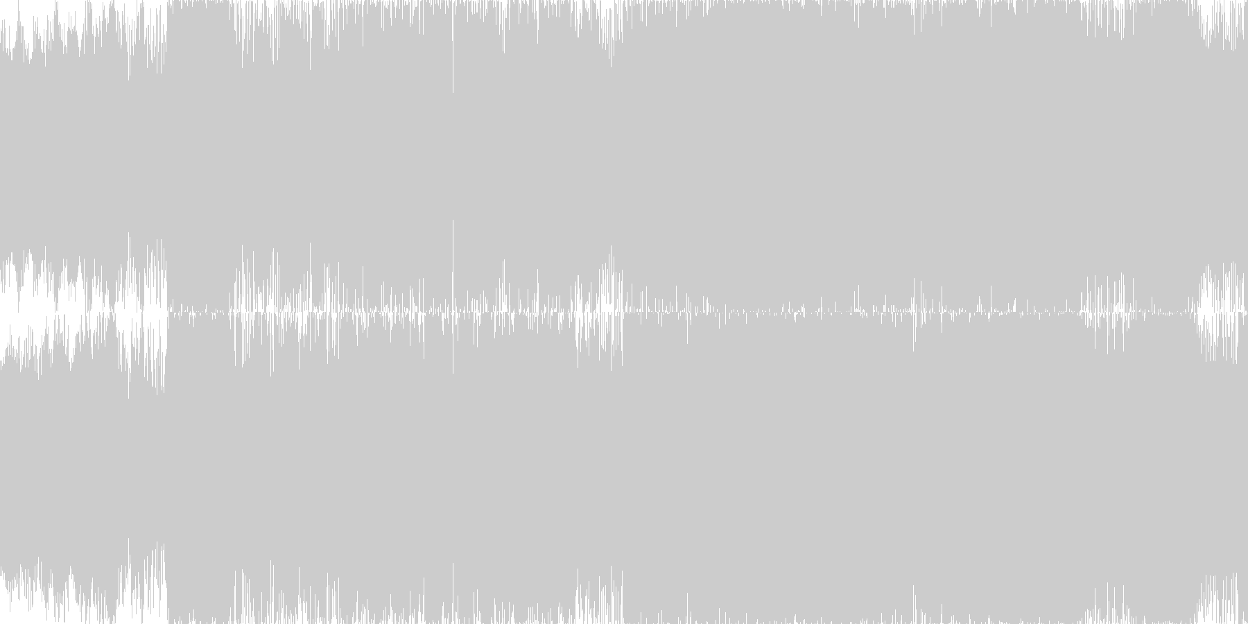 ループ■輝く銀世界の電脳的アートコアの未再生の波形