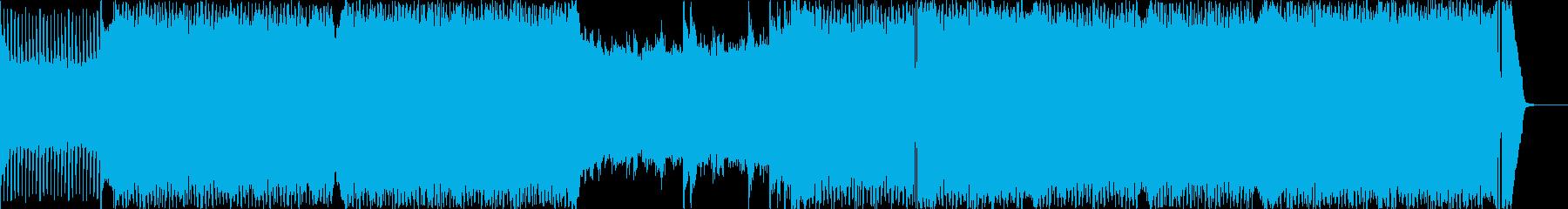 疾走感のあるエレクトロニカ(電子音楽)の再生済みの波形