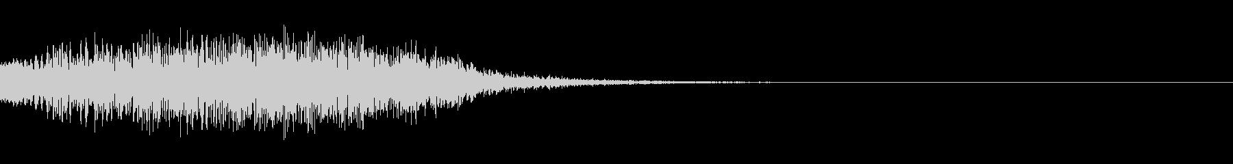 テレパシーを送る音 ポポポポポの未再生の波形
