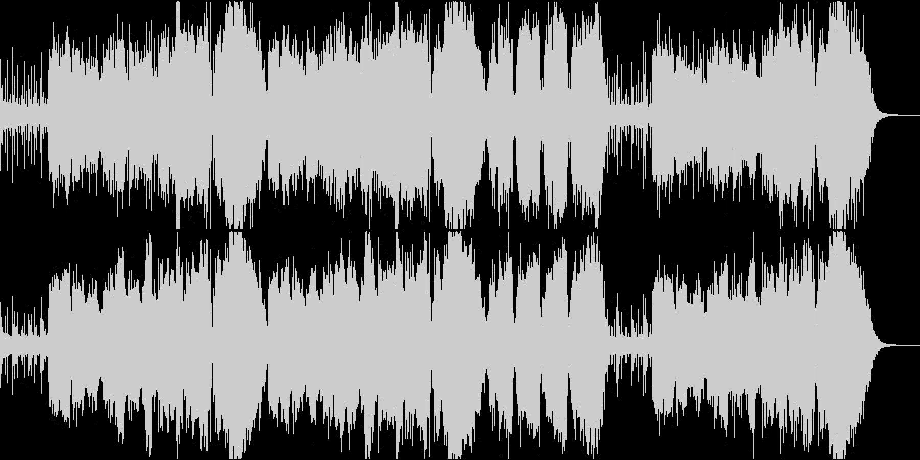 尺八が奏でる感動的なバラードの未再生の波形