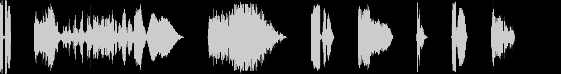 DJコンピューター画面出力X8の未再生の波形