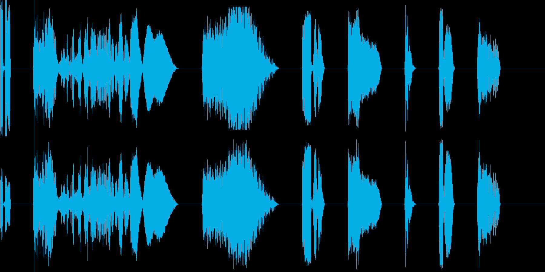 DJコンピューター画面出力X8の再生済みの波形