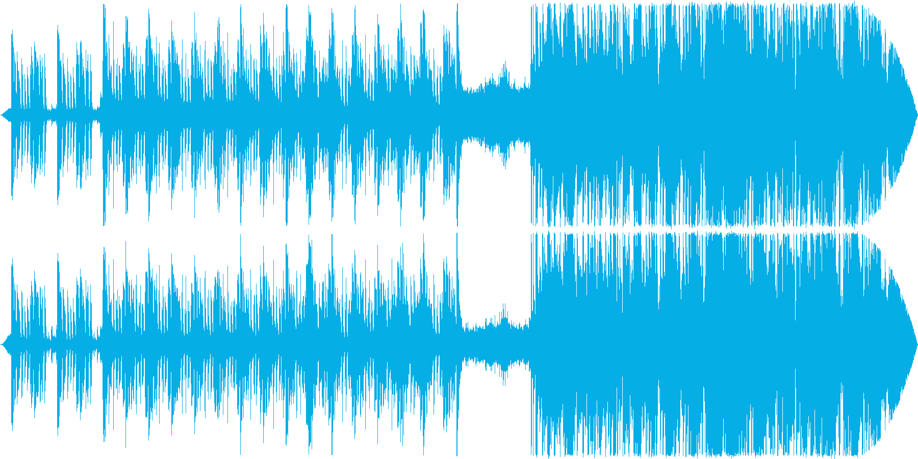 コード、エネルギッシュなフラッシュ...の再生済みの波形