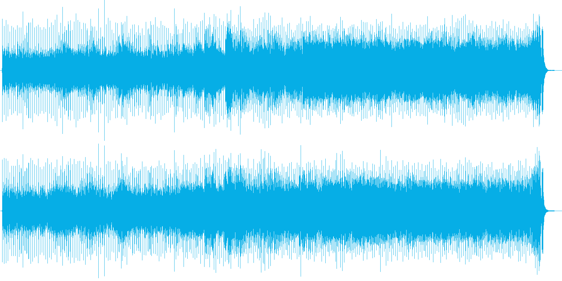 何かが始まるイメージの楽曲です。の再生済みの波形
