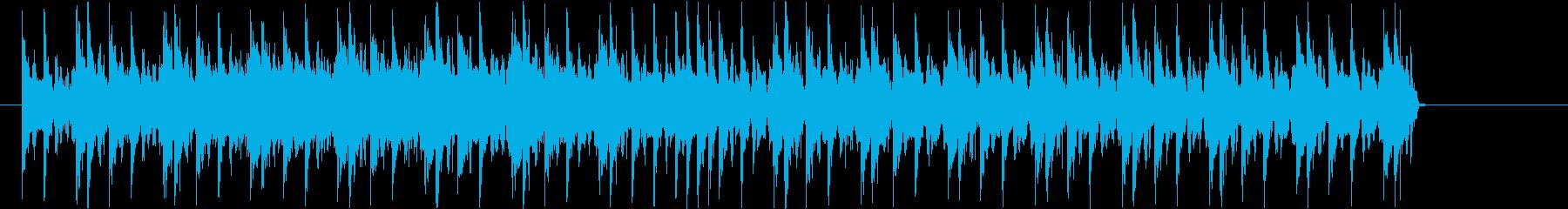 疾走感のある短い曲の再生済みの波形