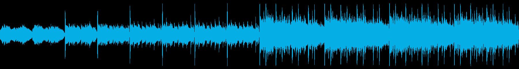 緊迫・不穏な雰囲気のBGMの再生済みの波形