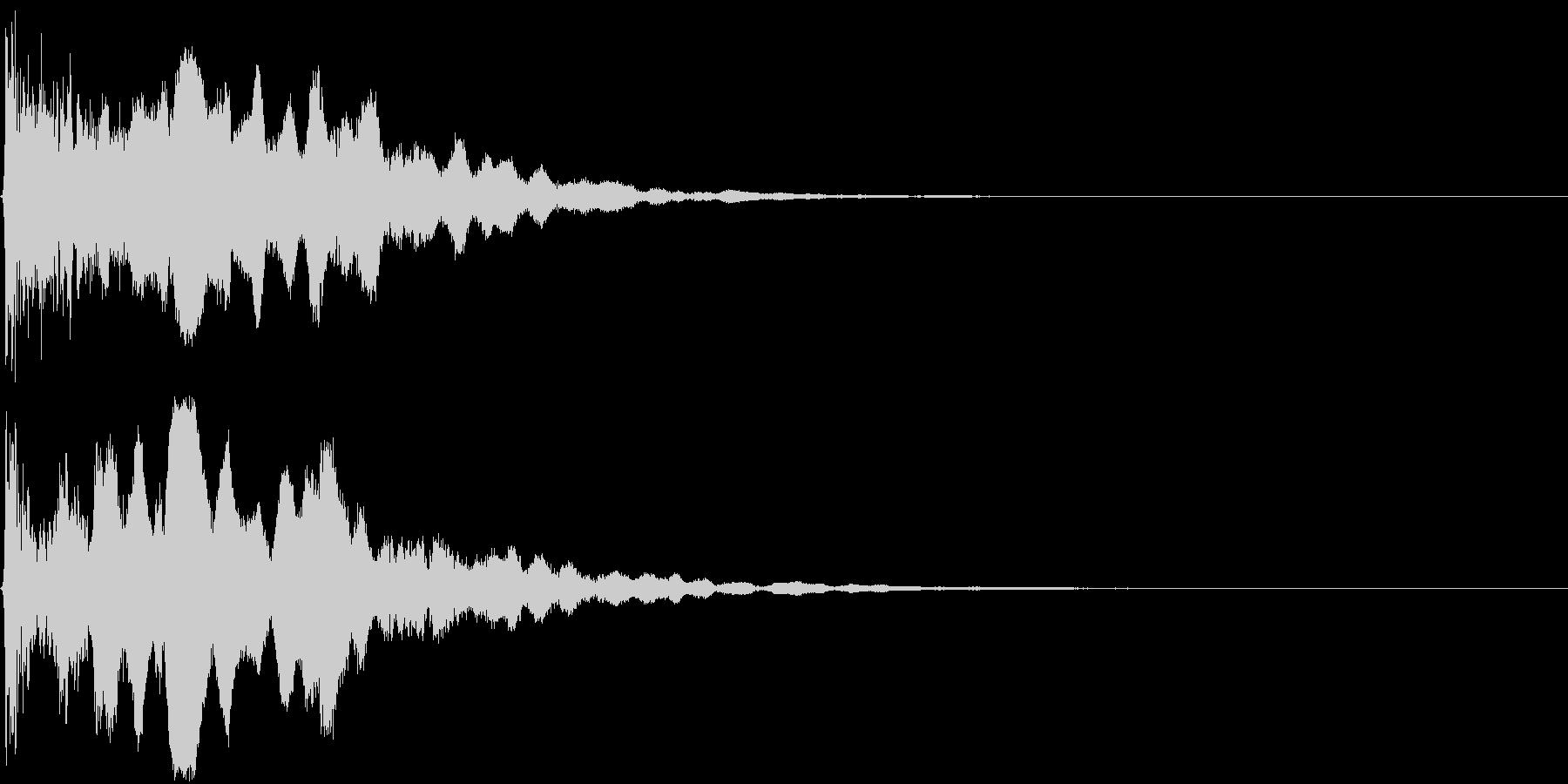 【和】笛の音が印象的な場面転換の未再生の波形