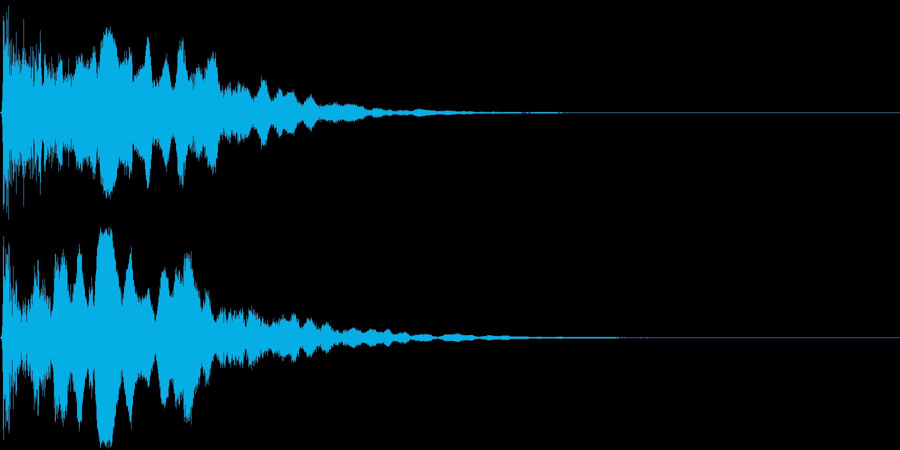 【和】笛の音が印象的な場面転換の再生済みの波形
