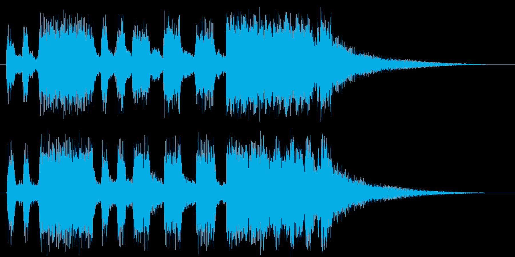 トランペット&トロンボーンファンファーレの再生済みの波形