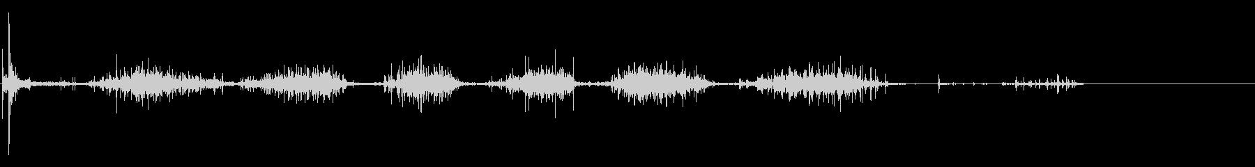 バッターボックスの土を踏みならす音 1の未再生の波形