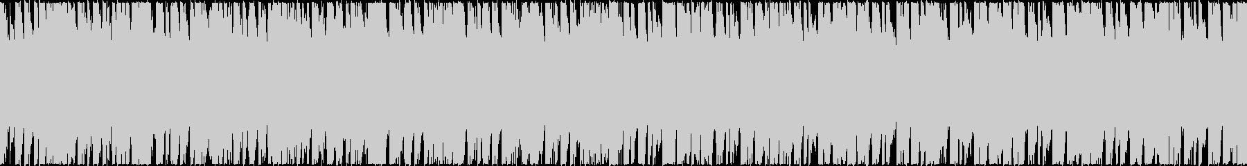 かっこいい雰囲気のループBGMの未再生の波形