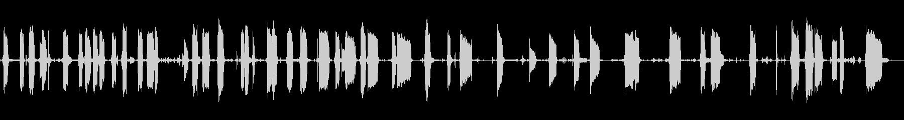 エレキギター超初心者の練習風景の未再生の波形