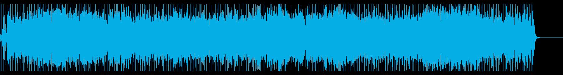 ほのぼのした日常系ロックの再生済みの波形