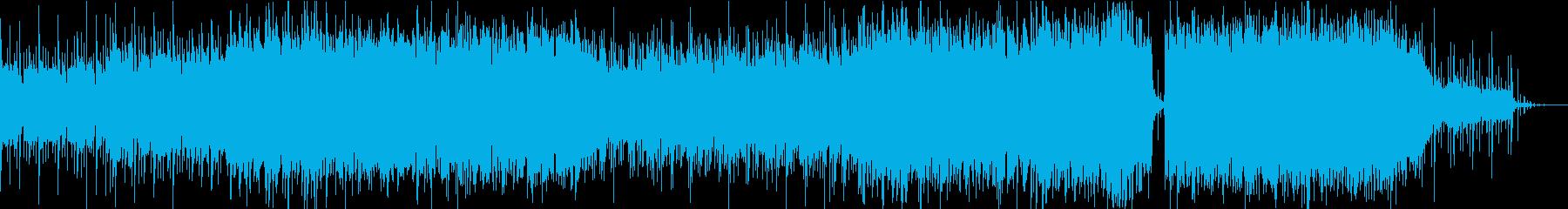 ディストピア感未来感あるBGMの再生済みの波形