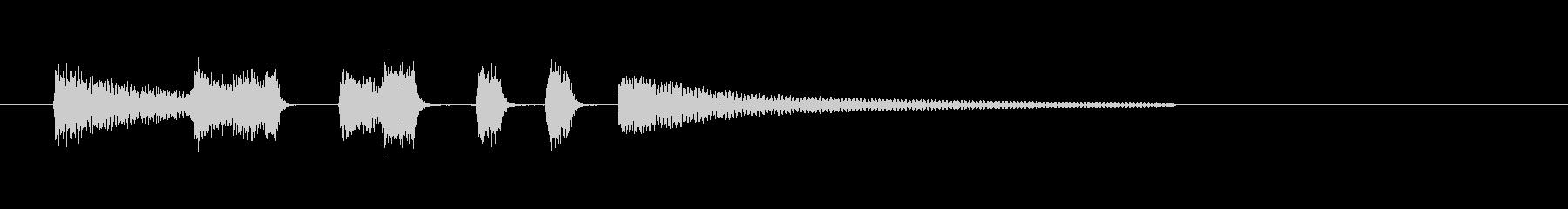 アコギ生演奏のシンプルで短いジングルの未再生の波形