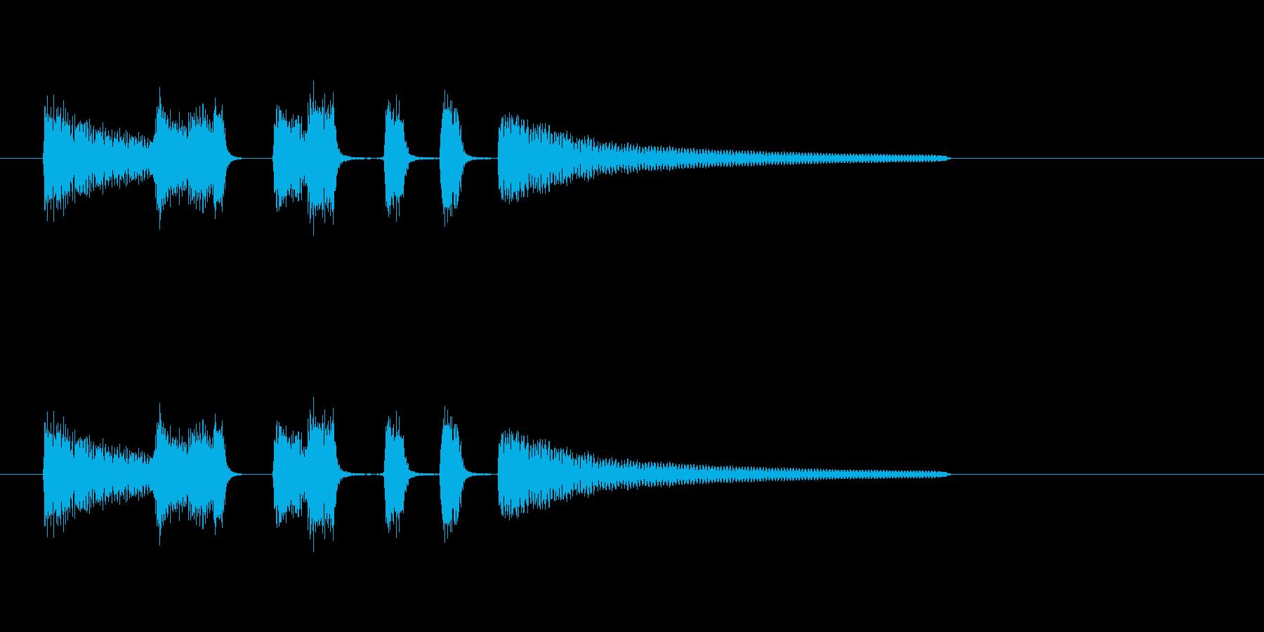 アコギ生演奏のシンプルで短いジングルの再生済みの波形