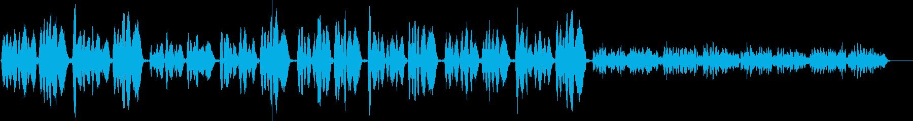 幻想的で落ち着きたい時に聞きたい曲の再生済みの波形