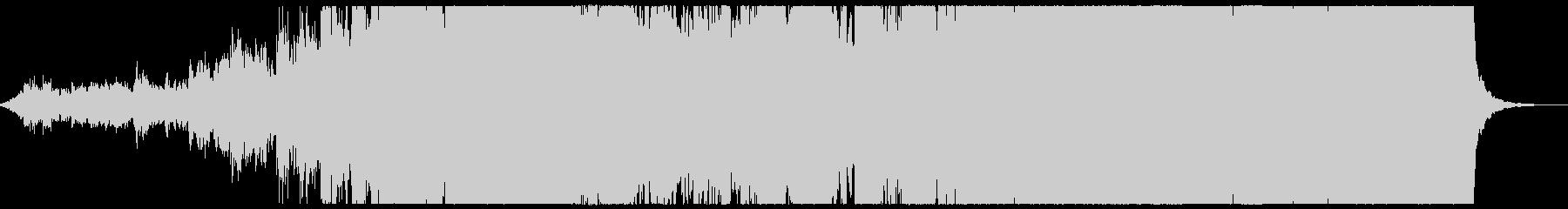 アンビエント 感動的なピアノの曲の未再生の波形
