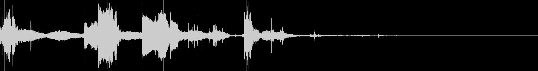 コイン数枚(チャリンチャリン)の未再生の波形