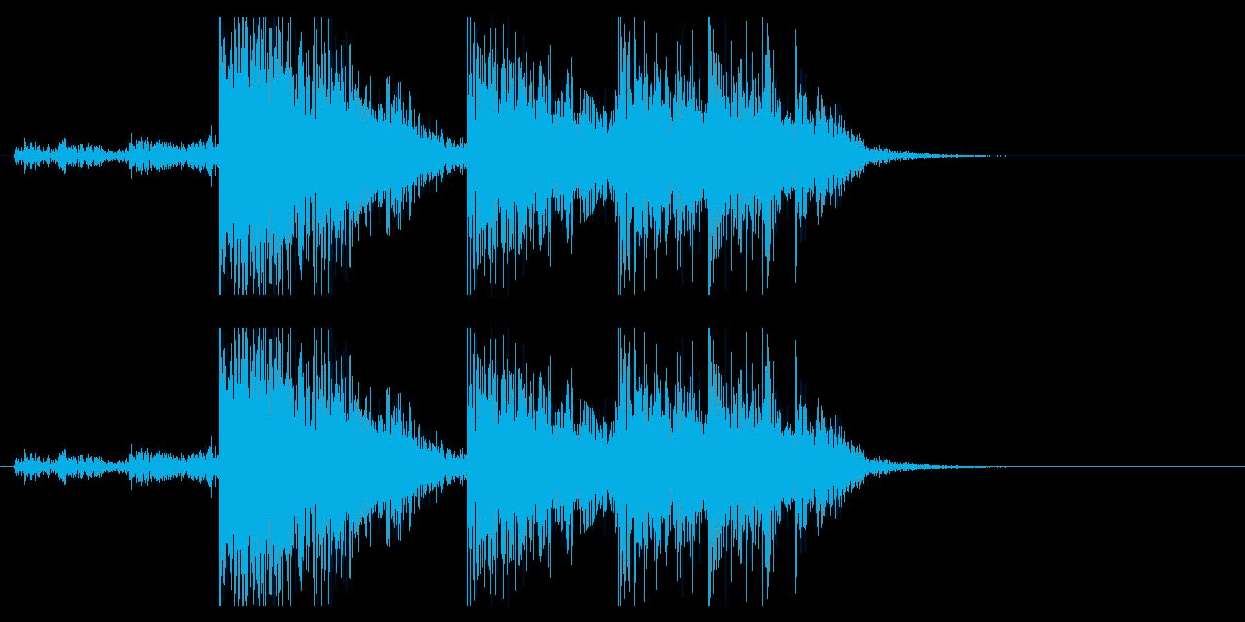 【生録音】ブリキのバケツの音 学校 7の再生済みの波形