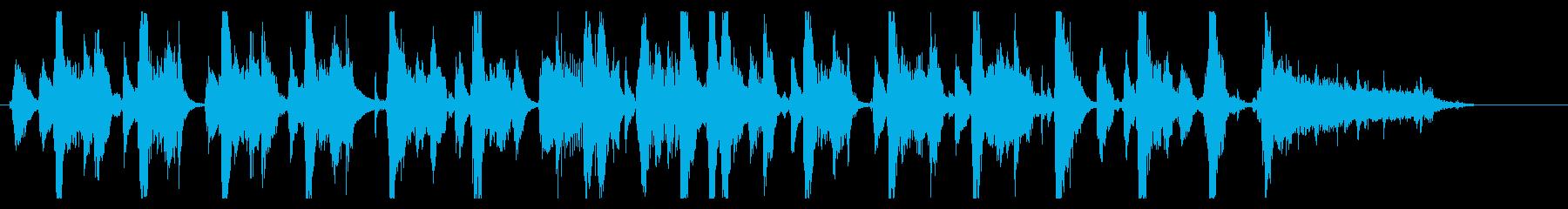 女の子の声の入った20秒かわいい曲の再生済みの波形
